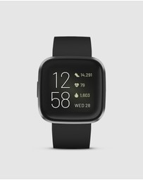 Fitbit - Fitbit Versa 2 Watch Black/Carbon