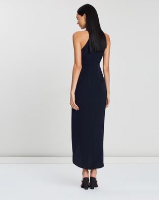 Shona Joy - High Neck Ruched Dress - Bridesmaid Dresses (Navy) High Neck Ruched Dress