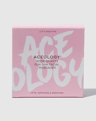 Aceology Rose Quartz Gua Sha Facial Massager Tools