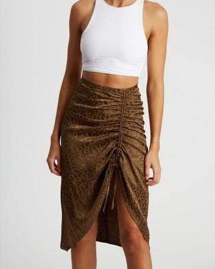 BWLDR Margot Skirt - Skirts (Khaki Leopard)