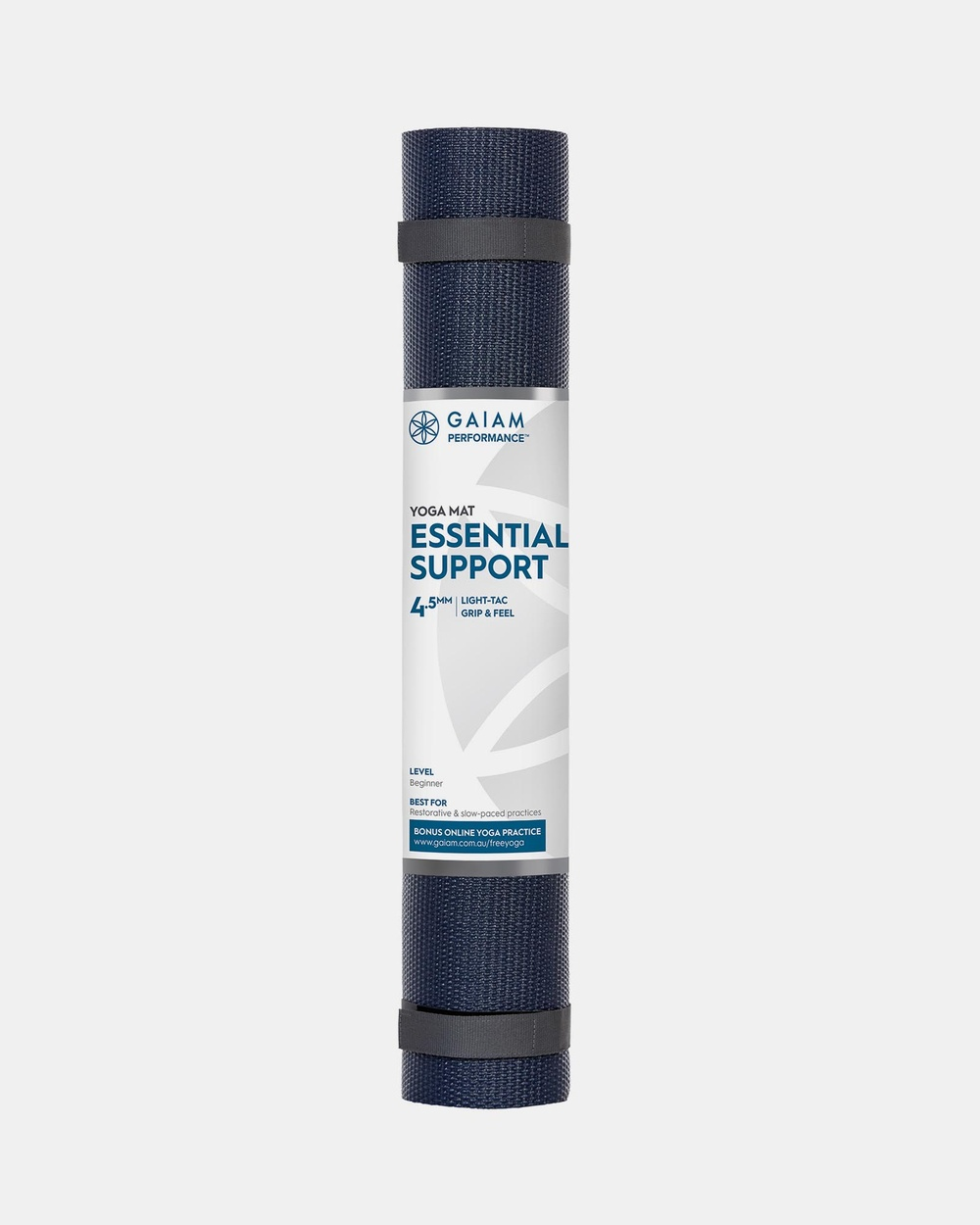 Gaiam Performance Essential Support 4.5mm Yoga Mat Accessories Navy & Teal