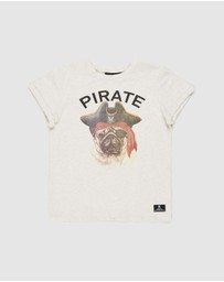 Rock Your Kid - Pirate Pug SS T-Shirt - Kids