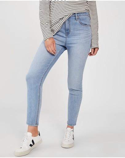 Ceres Life Mid-rise Skinny Leg Jeans Vintage Blue
