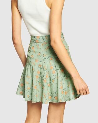 Apero Label La Fleur Frill Skirt - Skirts (Green)