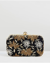 From St Xavier - Velvet Flower Box Clutch