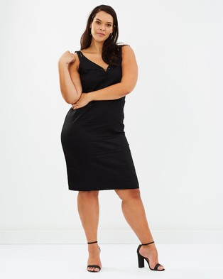 Lost Ink Plus – Two In One Dress Black