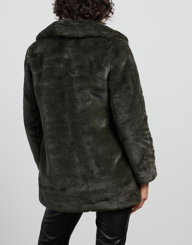 Women Minimalist Faux Fur Jacket