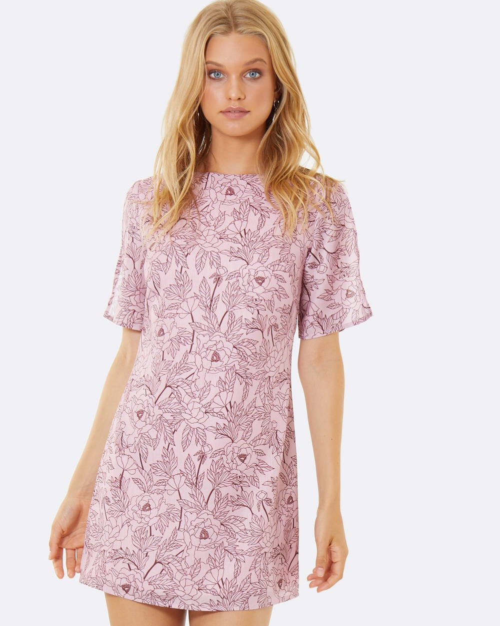 Calli Angelina Dress Printed Dresses Pink Angelina Dress