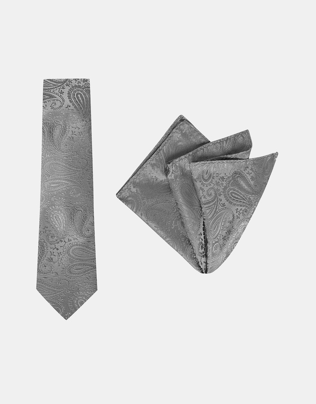 Buckle - Paisley Tie & Pocket Square Set