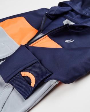 ASICS Brushed Fleece Full Zip Hoodie   Kid's - Coats & Jackets (Peacoat)