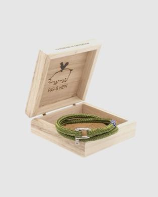PIG&HEN Salty Slim Jewellery Reed Green