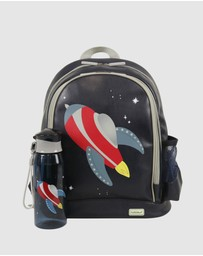 Bobbleart - Large Backpack and Drink Bottle Pack Rocket