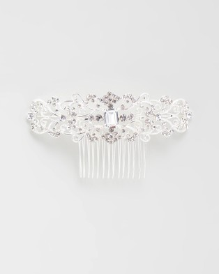 Ivory Knot Yasmin Hair Comb - Hair Accessories (Silver)