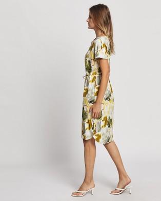 David Lawrence Robyn Printed Dress - Printed Dresses (Ivory Multi)