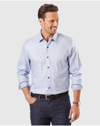 Gazman -  Easy Care Tailored Dobby Check Long Sleeve Shirt