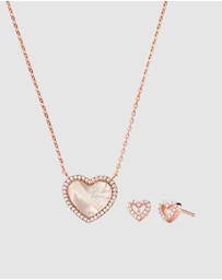 Michael Kors - Rose Gold Necklace and Earring Set