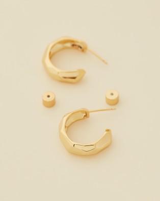 Jackie Mack Sunrise Small Hoops - Jewellery (18K Yellow Gold)