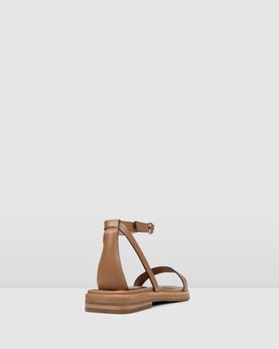 Jo Mercer Idol Flat Sandals TAN LEATHER