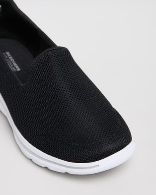 Skechers GOwalk 5   Women's - Walking (Black & White)