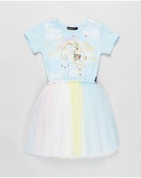 Rock Your Kid - Unicorn Clouds SS Circus Dress - Kids