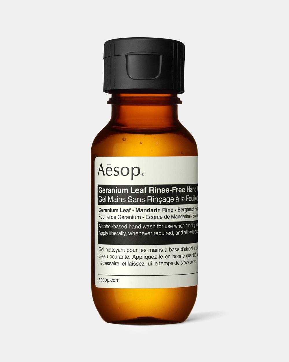Aesop Geranium Leaf Rinse Free Hand Wash 50mL Beauty 50mL Rinse-Free