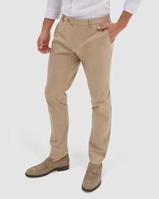 SABA Mateo Cotton Suit Pants - Pants (Dark Stone)