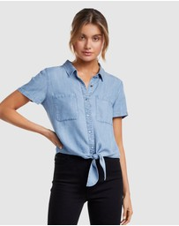 Forever New - Ella Tie Up Denim Shirt