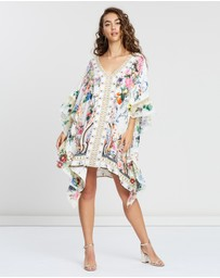 Camilla - V-Neck Kaftan with Ruffle Sleeve