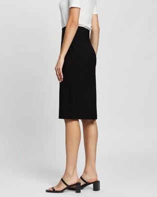 SPURR Bengaline Midi Pencil Skirt - Pencil skirts (Black)