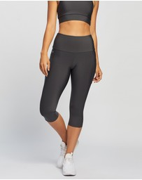 Brasilfit - High Waisted Under Knee Tights with Pockets
