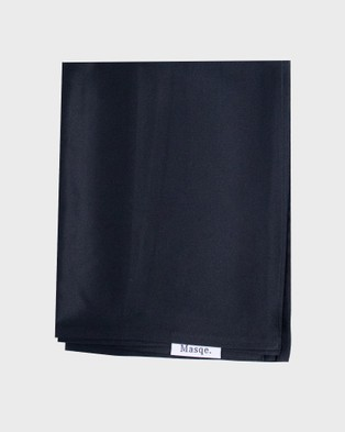 Masqe Silk Pillow Case - Home (Black)