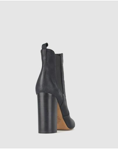 Zu Vixen Point Toe Chelsea Boots Black Pebble