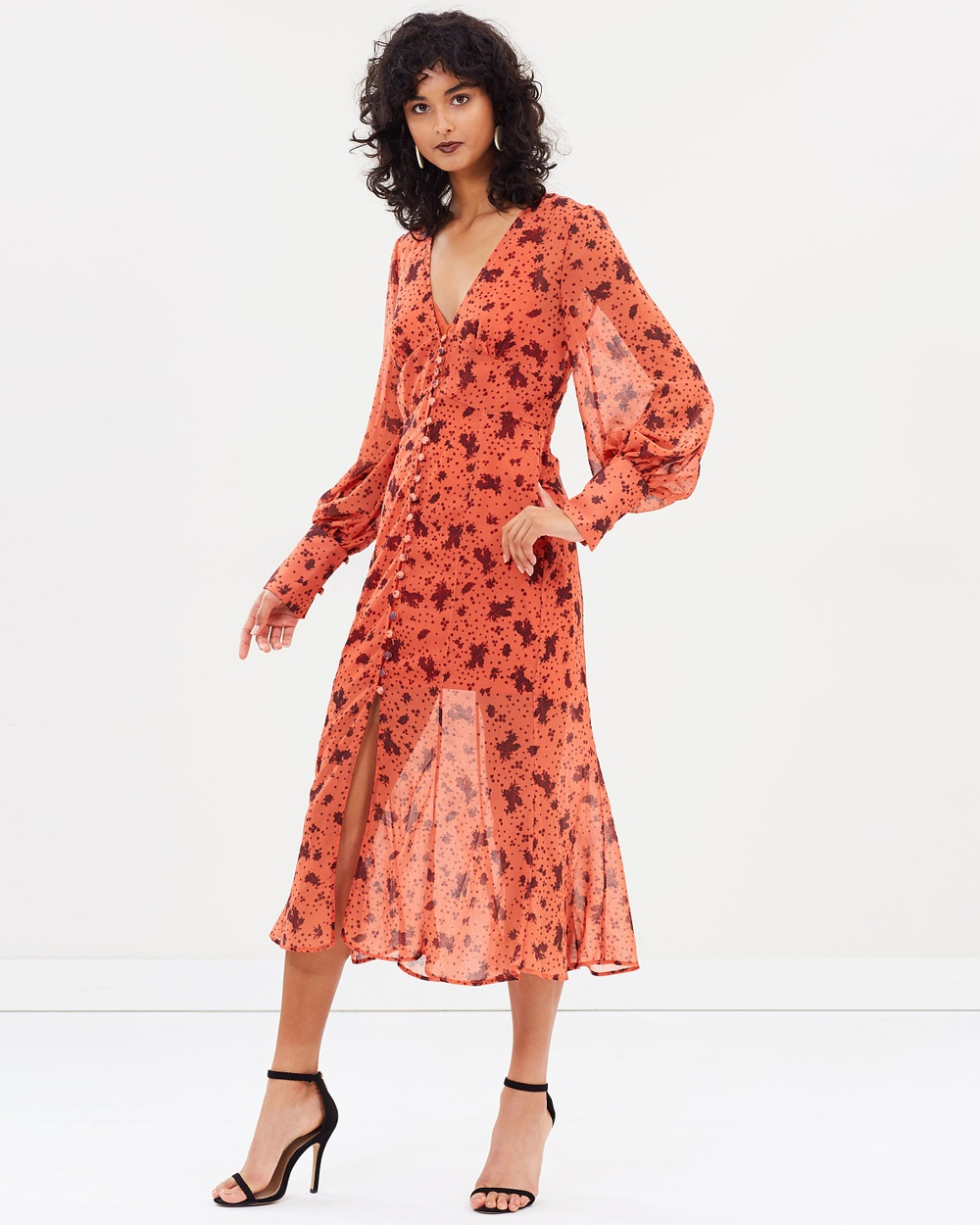 C-MEO COLLECTIVE Sweet Thing LS Dress Printed Dresses Chili Rose Sweet Thing LS Dress