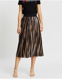 Alice & Olivia - Mikaela Mid-Length Pleated Skirt