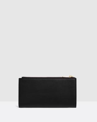 Oroton Luna Zip Fold Wallet - Wallets (Black)