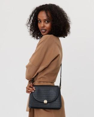 Saben Goldie Cross body Leather Handbag Satchels black Cross-body