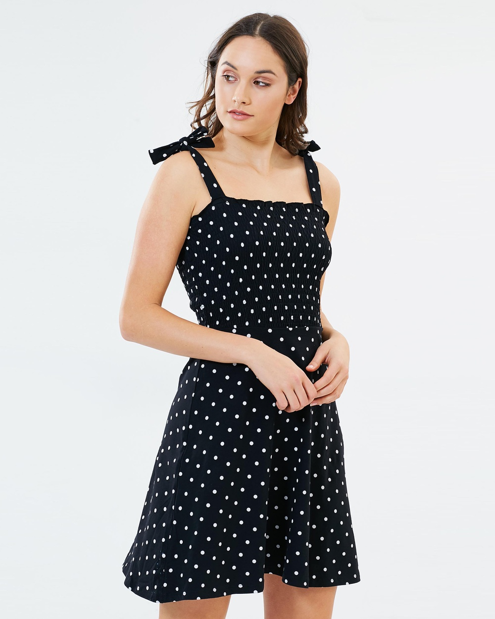 Dorothy Perkins Spotted Sundress Printed Dresses Black & White Spots Spotted Sundress
