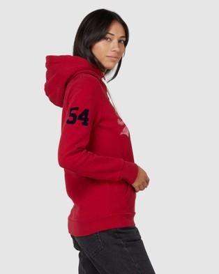 Superdry Vintage Logo Varsity Hood - Sweats (Chilli Pepper)