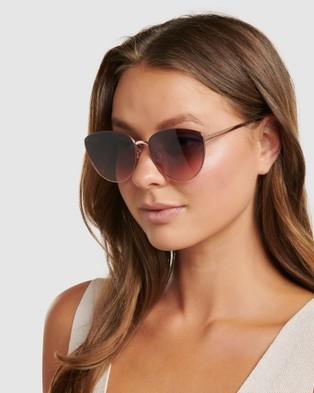 Forever New Megan Metal Sunglasses - Sunglasses (Rose Gold)