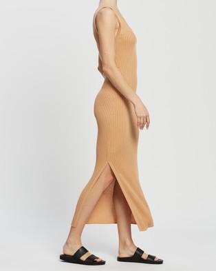 AERE Knit Dress - Bodycon Dresses (Sunset Orange)