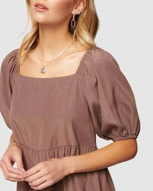 Forever New Sandra Square Neck Smock Dress - Dresses (Dark Dove)