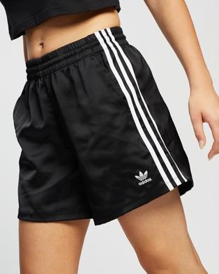 adidas Originals Adicolour Classics Satin Shorts - High-Waisted (Black)