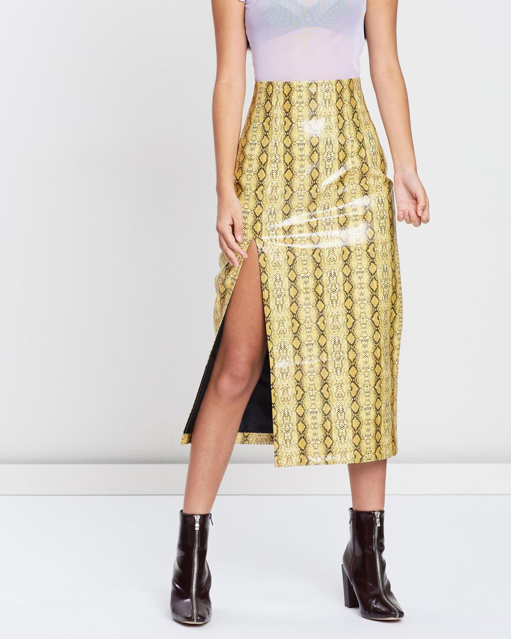 56a9a8595 Snake Midi Skirt by TOPSHOP Online | THE ICONIC | Australia