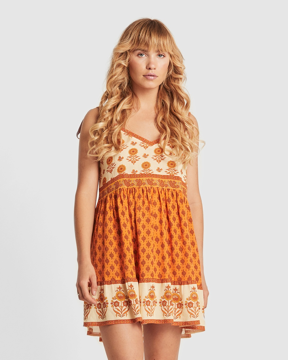 Arnhem Orange Soriah Marmalade Mini Dress