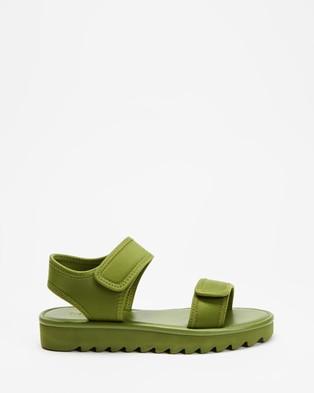 TWOOBS Olive Low Sandal - Flats (Khaki)