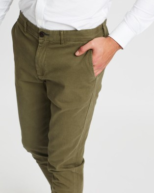 3 Wise Men Charlie Chinos - Pants (Green)