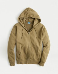 J.Crew - Garment-Dyed French Terry Full-Zip Hoodie