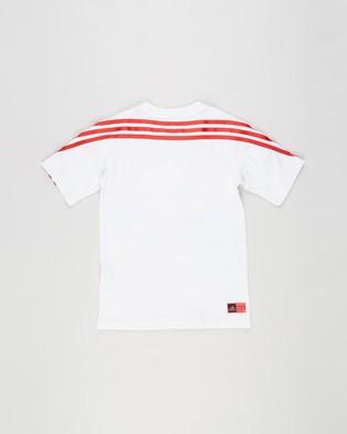 adidas Performance Superhero Adventures Tee   Kids - T-Shirts & Singlets (White, Vivid Red & Team Royal Blue)