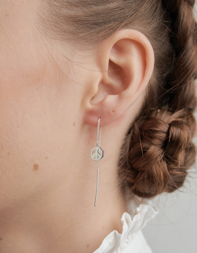 Women Peace Thread Earrings