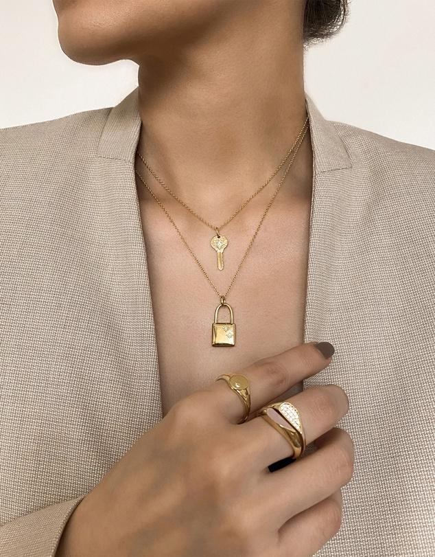Women Universe Key 14K Gold Vermeil Pendant